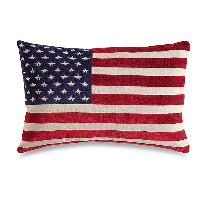 Alternate image 1 for American Flag 20-Inch Decorative Throw Pillow
