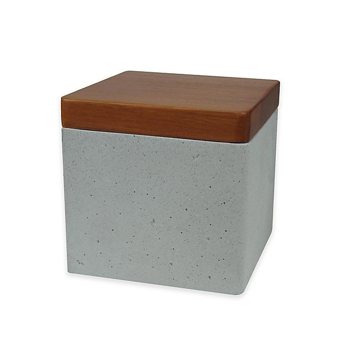Alternate image 1 for NuSteel Concrete Finish Jar with Lid in Stone