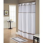 Hookless® Monterey Shower Curtain in White/Brown