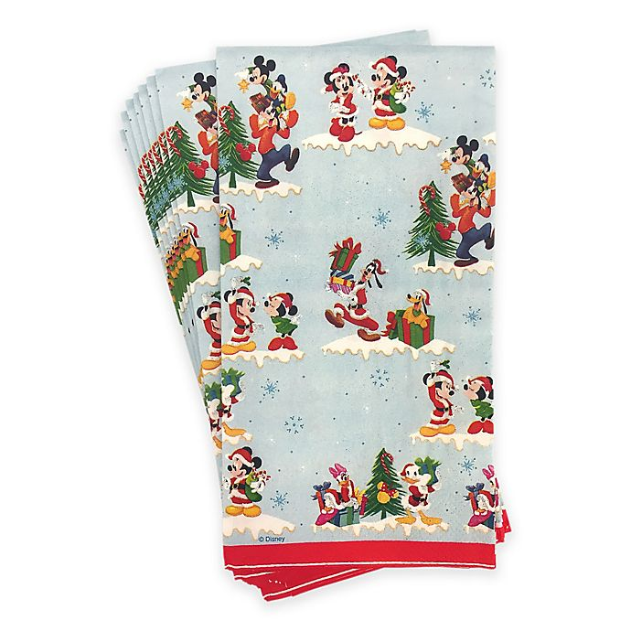 Disney® Mickey Mouse and Friends Holiday 20-Pack Paper Guest Towels | Bed Bath & Beyond