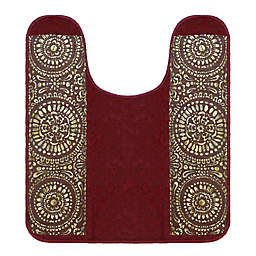 "Popular Bath Cascade 21"" x 24"" Contour Bath Rug in in Burgundy"