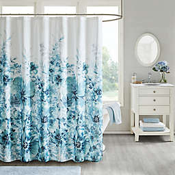 Madison Park Enza Shower Curtain in Teal