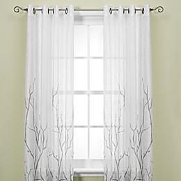 Alton Print Grommet Top Window Curtain Panel