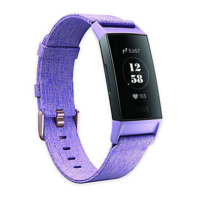 Fitbit Charge 3™ Advanced Fitness Tracker Special Edition Lavender Woven Band/Rose Gold Aluminum