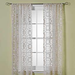 B. Smith Jafaro Burnout Window Curtain Panels