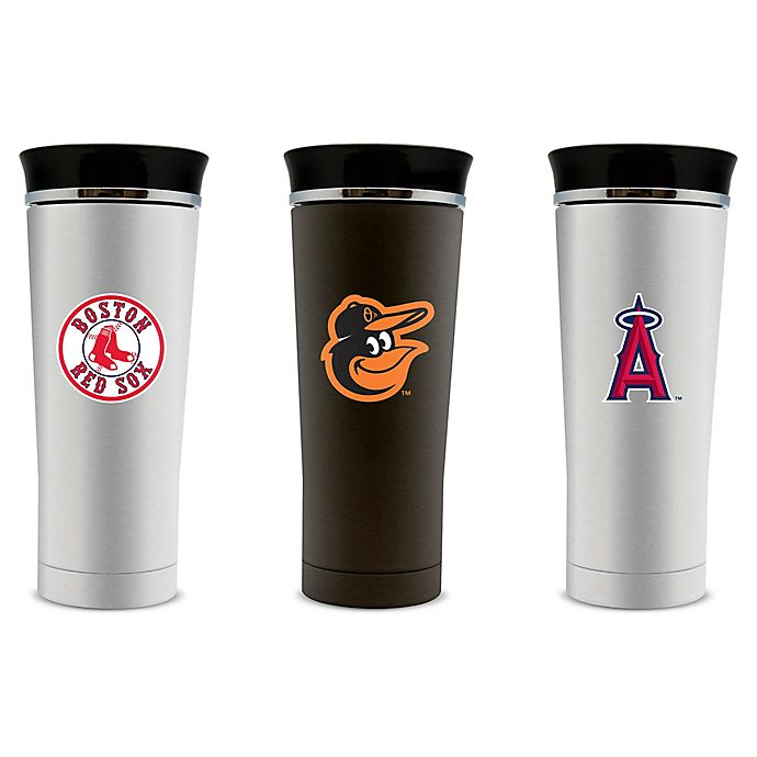 Alternate image 1 for MLB 16 oz. Stainless Steel Travel Mug Collection