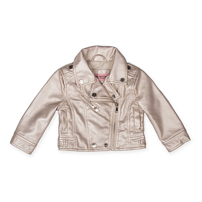 Alternate image 1 for Urban Republic Metallic Moto Jacket in Silver