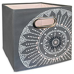 Relaxed Living Batik Medallion 11-Inch Square Collapsible Storage Bin