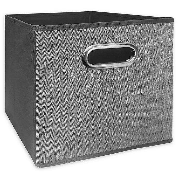 Alternate image 1 for Relaxed Living Texture Grey 11-Inch Collapsible Storage Bin