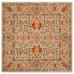 Safaiveh Antiquity Magda 6' Square Arera Rug in Beige