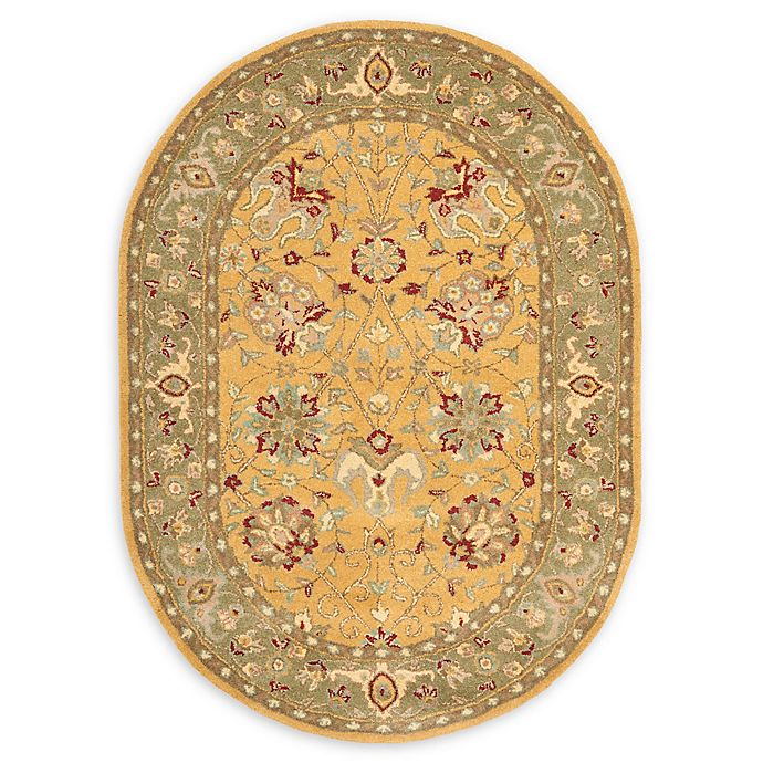 Alternate image 1 for Safavieh Brielle 7'6 x 9'6 Oval Hand-Tufted Area Rug in Gold