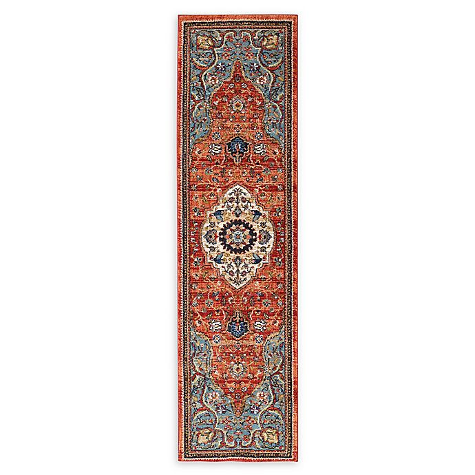 Alternate image 1 for Karastan Petra Floral Multicolor 2'4 x 7'10 Runner