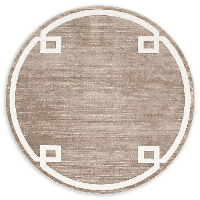 Alternate image 1 for Jill Zarin Uptown  8' Round Area Rug in Brown