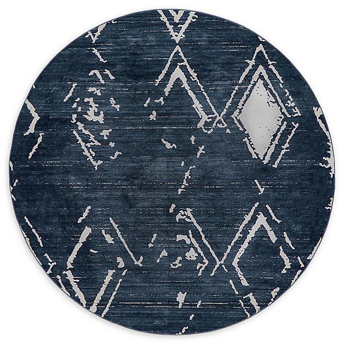 Alternate image 1 for Jill Zarin Uptown 8' Round Area Rug in Navy/Blue
