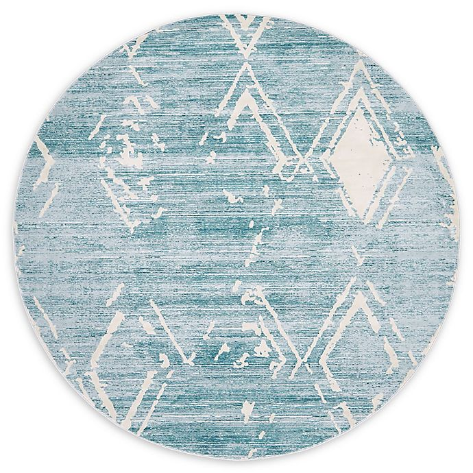 Alternate image 1 for Jill Zarin Uptown 8' Round Area Rug in Turquoise