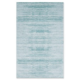 Jill Zarin Madison Avenue Uptown Power-Loomed Rug in Turquoise