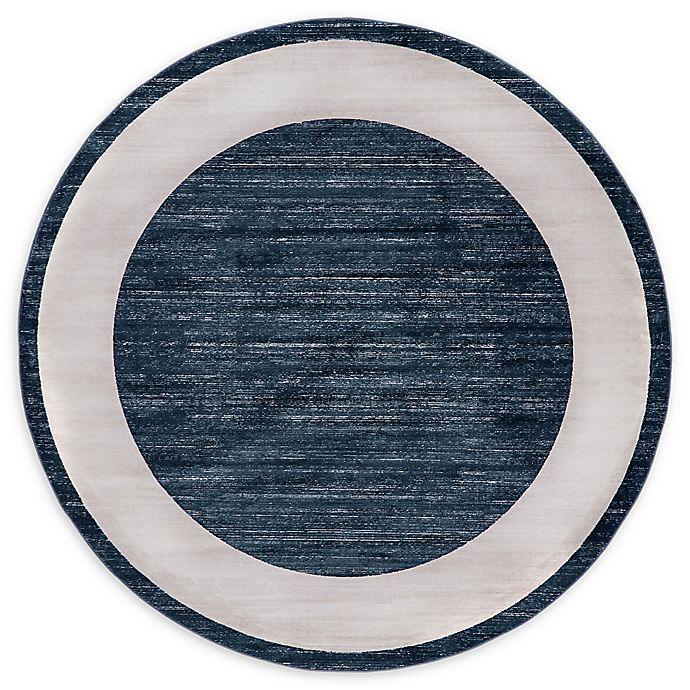 Alternate image 1 for Jill Zarin Yorkville 8' Round Area Rug in Navy Blue