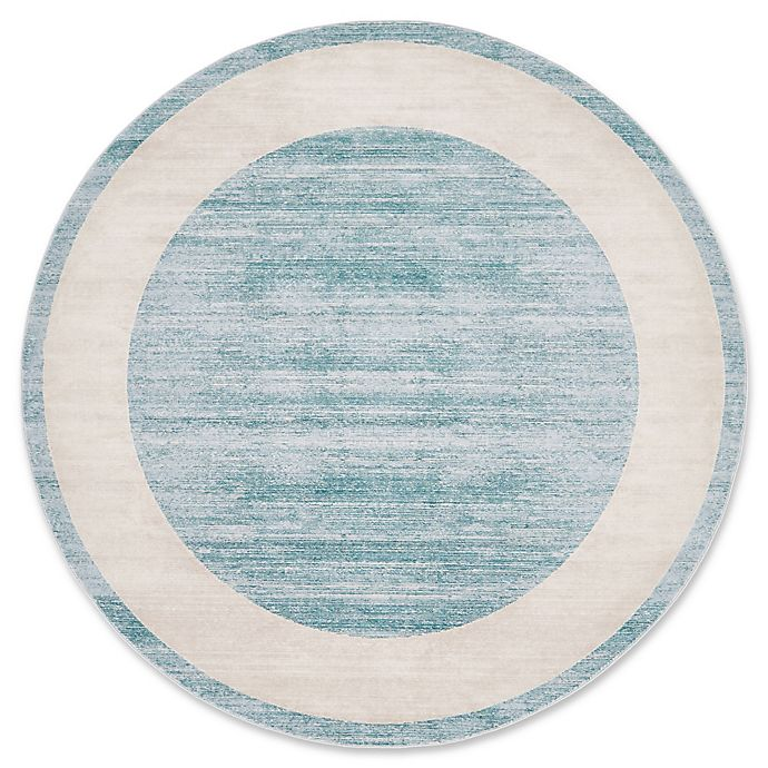 Alternate image 1 for Jill Zarin Yorkville 8' Round Area Rug in Turqouise