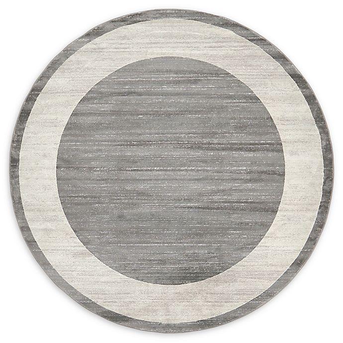 Alternate image 1 for Jill Zarin Yorkville 8' Round Area Rug in Grey