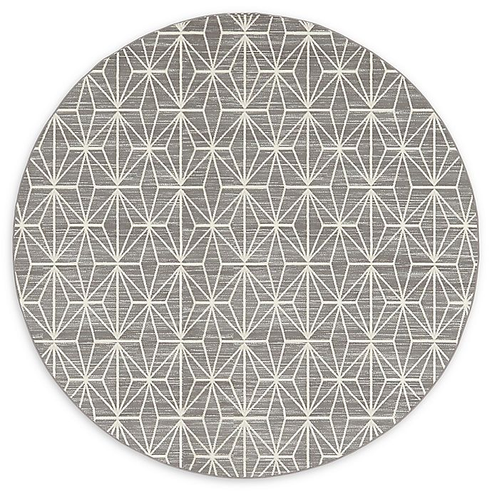 Alternate image 1 for Jill Zarin Fifth Ave 8' Round Area Rug in Grey