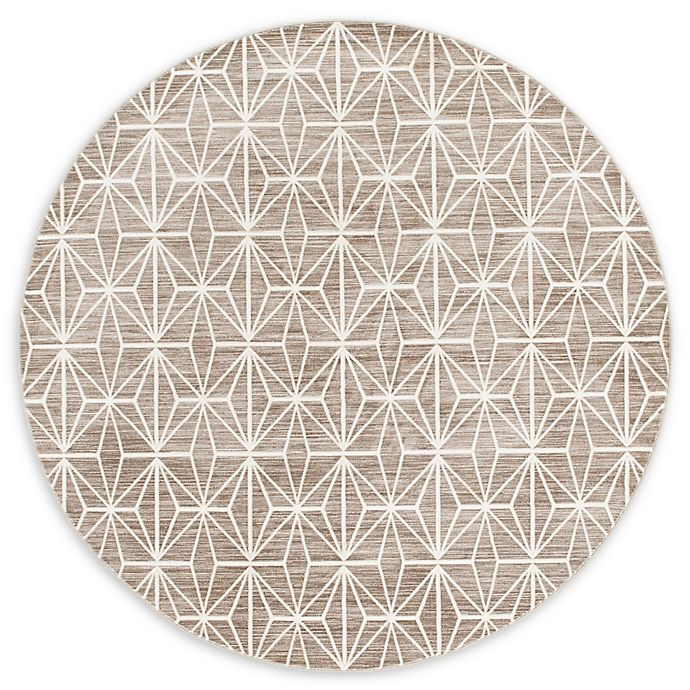 Alternate image 1 for Jill Zarin™ Uptown Fifth Avenue 8' Round Area Rug in Brown