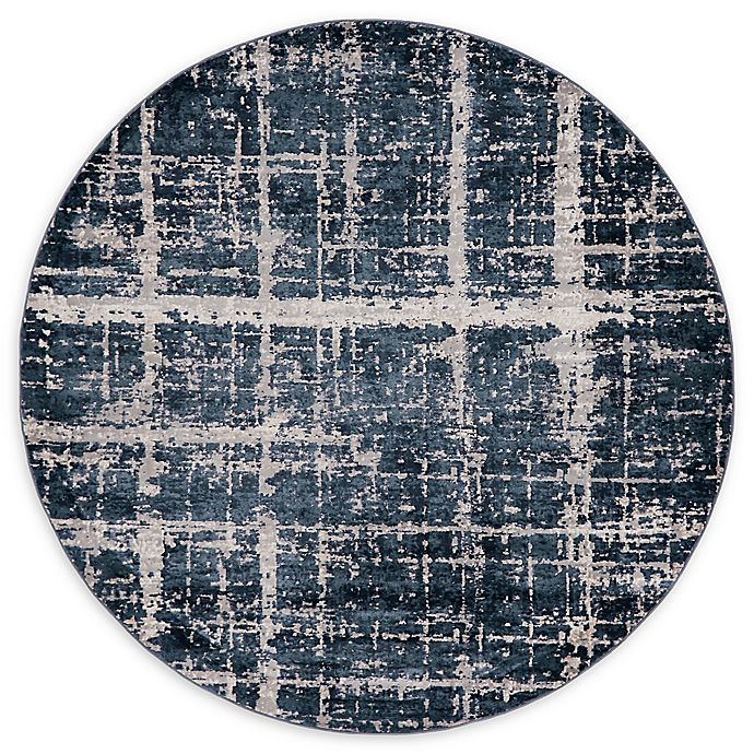 Alternate image 1 for Jill Zarin™ Uptown Lexington Ave 8' Round Area Rug in Navy/Blue