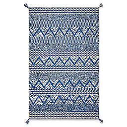 Hang Ten Malibu Hermosa Woven Area Rug in Blue