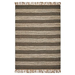 Hang Ten Palm Beach Horizons 8'6 x 11'6 Woven Area Rug in Slate/Ivory