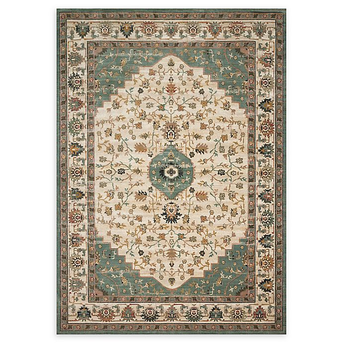 Alternate image 1 for Magnolia Home by Joanna Gaines Evie 11'6 x 15' Area Rug in Ivory/Jade