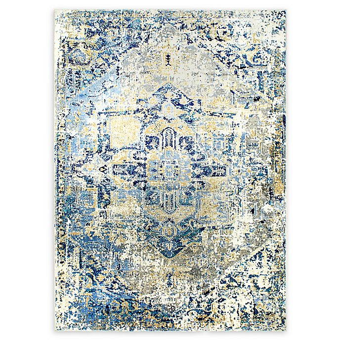 Alternate image 1 for Shabby Chic Heritage Brandt 5'2 x 7'2 Power-Loomed Area Rug in Grey/Blue