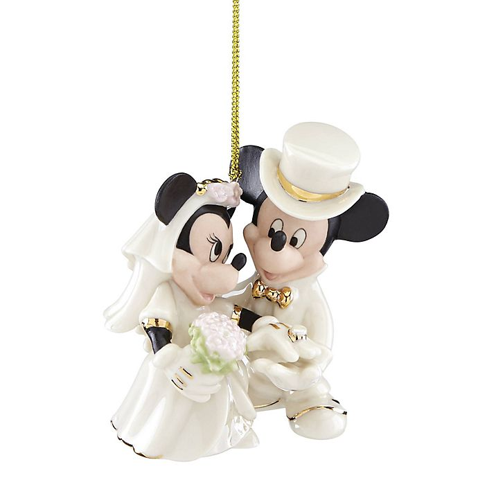 Lenox® Disney® Mickey and Minnie Wedding Christmas ...