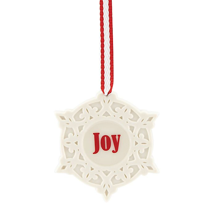 Lenox 174 Quot Joy Quot Snowflake Charm Christmas Ornament Bed Bath