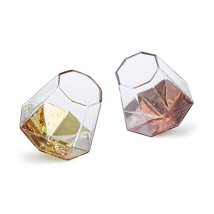 2eec9dd404d Diamond Stemless Wine Glasses in Gold/Rose (Set of 2) | Bed Bath ...