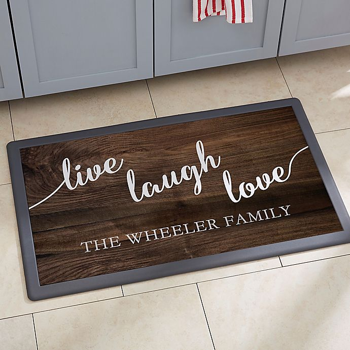 Alternate image 1 for Live, Laugh, Love Kitchen Mat