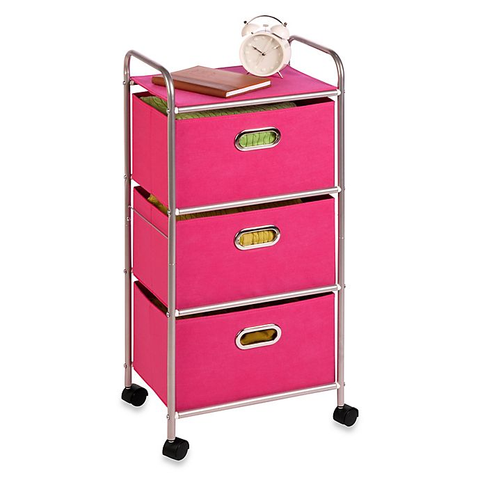 Alternate image 1 for Honey-Can-Do® Steel 3-Drawer Rolling Fabric Cart