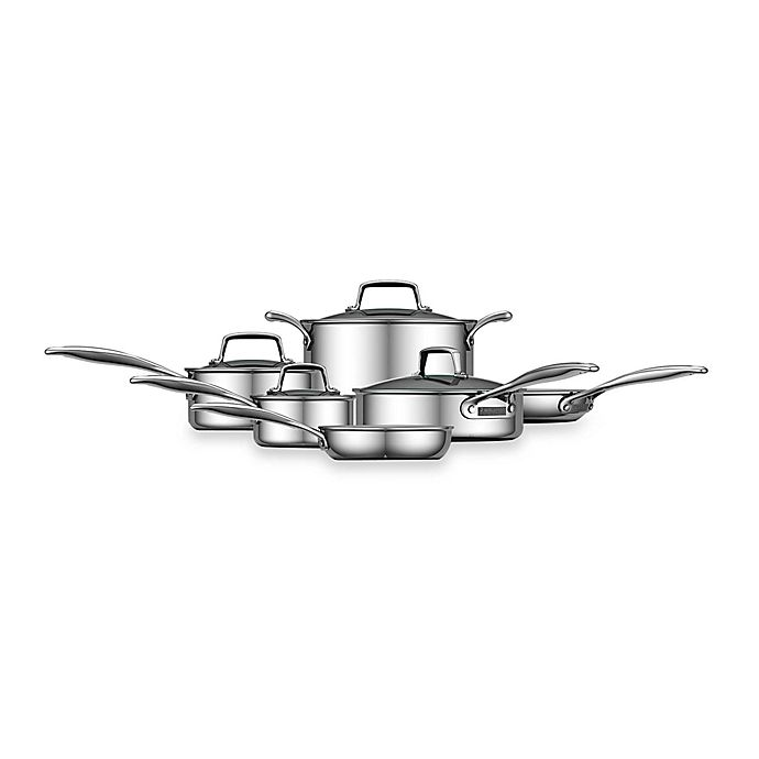 Alternate image 1 for Zwilling J.A. Henckels Energy 10-Piece Nonstick Ceramic-Coated Stainless Steel Cookware Set