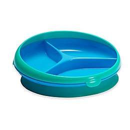 Tomy Toddler Suction-Bottom 3-Section Plate in Aqua/Blue