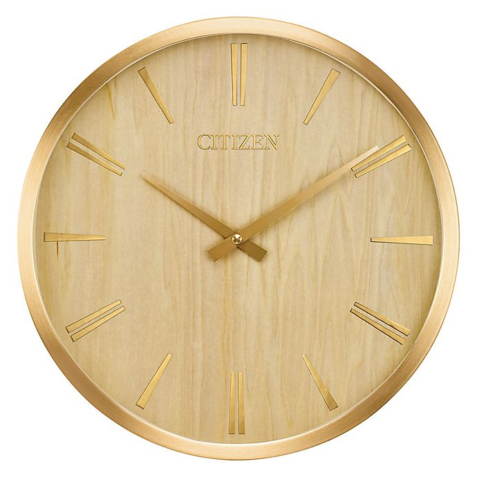 Alternate image 1 for Citizen Gallery 14.5-Inch Circular Wood Wall Clock