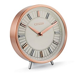 Citizen Rose Gold Tone Circular Desk Clock