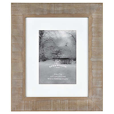 Bee & Willow™ Home 5-Inch x 7-Inch Matted Acacia Picture Frame