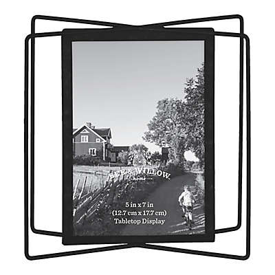 Bee & Willow™ Home 5-Inch x 7-Inch Metal Photo Frame in Black