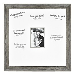 Bee & Willow™ Home Wedding 5-Inch x 7-Inch Signature Photo Frame in Aged Silver