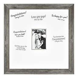 Bee & Willow™ Wedding 5-Inch x 7-Inch Signature Photo Frame in Aged Silver