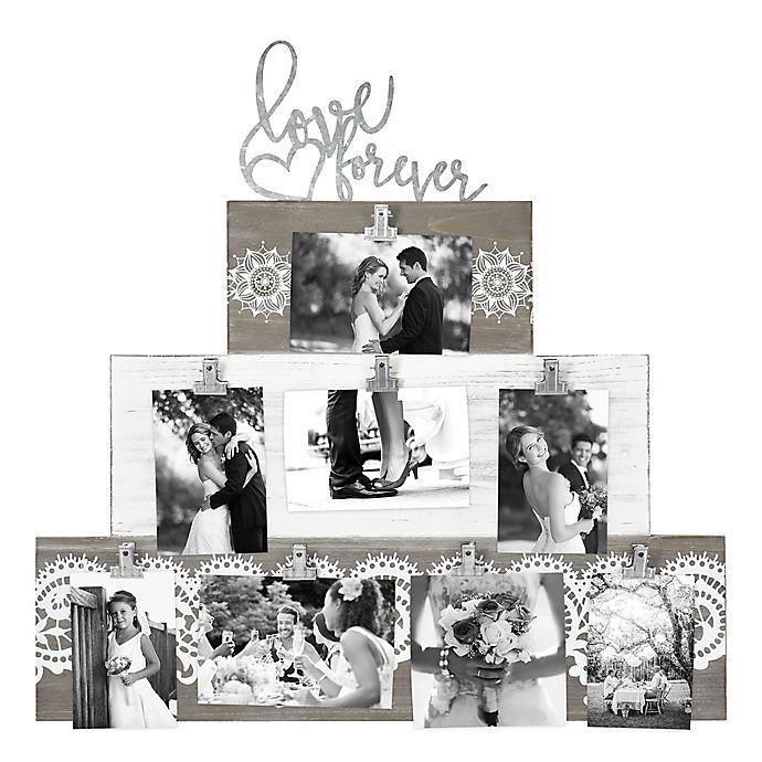 Alternate image 1 for Love Forever Cake Clip 8-Photo Collage Frame