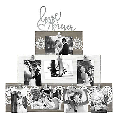 Love Forever Cake Clip 8-Photo Collage Frame