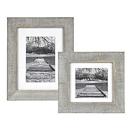 Bee & Willow™ Home Matted Wooden Picture Frame in Grey