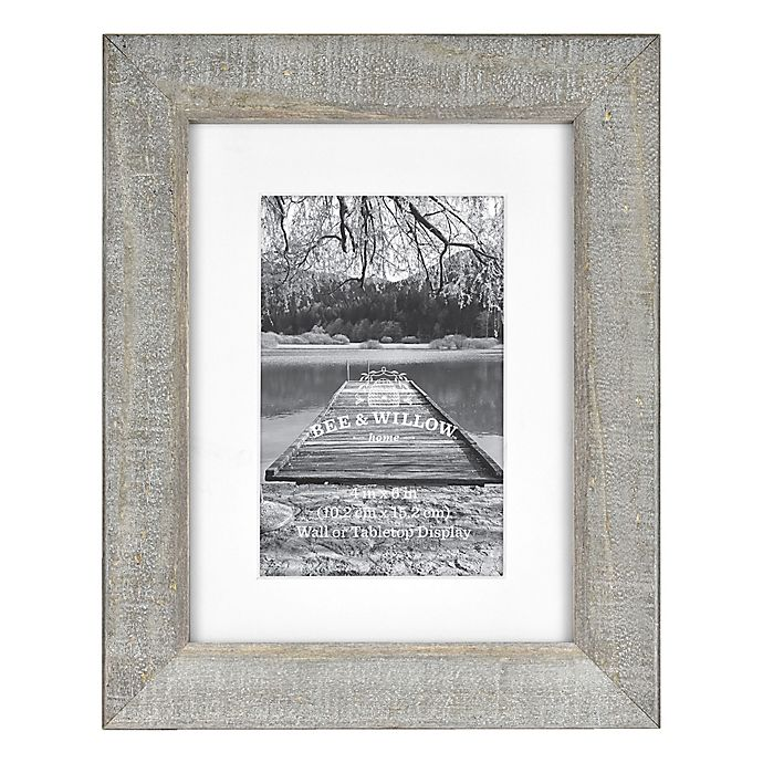 Alternate image 1 for Bee & Willow™ Home 4-Inch x 6-Inch Matted Wooden Picture Frame in Grey