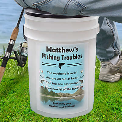 Fishing Troubles 19 Qt. Bucket Cooler
