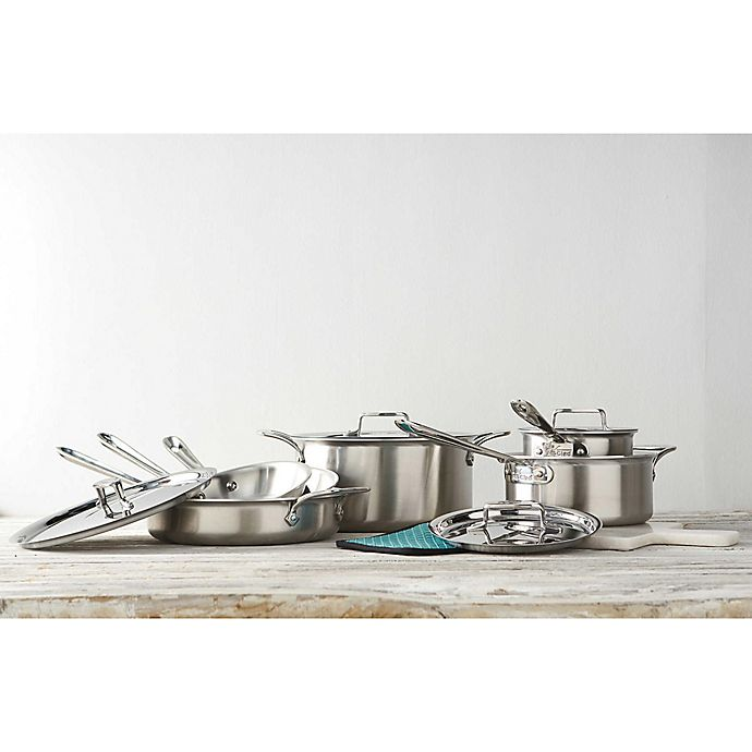 Kitchen Art 5 Ply Diamond Coating: All-Clad D5 Brushed Stainless Steel Cookware Collection