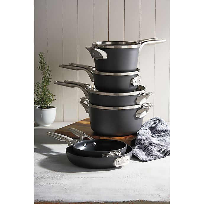 Alternate image 1 for Calphalon® Premier Space Saving Hard Anodized Nonstick Cookware Collection
